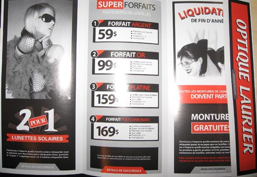 Promo Optique Laurier