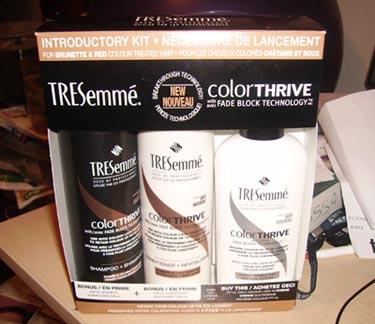 Item Reçus - TRESemmé - Colorthrive - Trousse